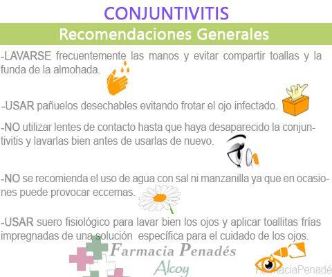 Recomendaciones generales en caso de padecer conjuntivitis