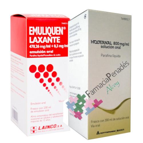 Laxantes lubricantes: Emuliquen Laxante y Hodernal