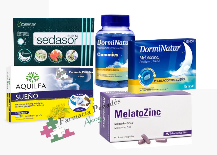 7 claves para combatir el insomnio y melatoninas para ayudar a conciliar el sueño y evitar el insomnio dormir_relax_dorminatur_aquilea_melatozinc_farmaciapenadesalcoy