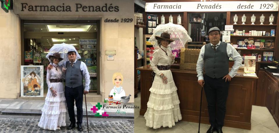 Farmacia Penadés Alcoy también celebra el modernismo en La Semana Modernista de Alcoy dentro de la ruta europea del modernismo