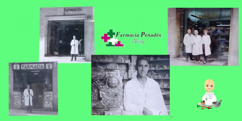 Farmacia Penadés de Alcoy su fundador y las tres generaciones