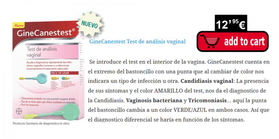 Test para saber qué tipo de infección vaginal padeces, como por ejemplo la candidiasis vaginal o vaginosis