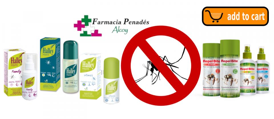 Repelentes de mosquitos con DEET Icaridina IR3535 adecuados para la prevenciçon de picaduras de mosquitos para niños y adultos.